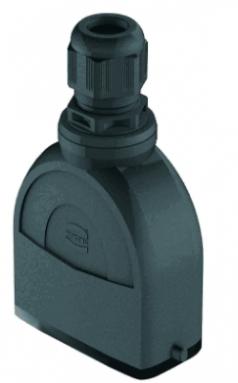 Han-Eco A 10A hood, integr. cable gland, top entry, 1xM25, outdoor