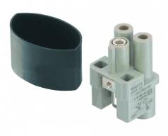 HAN Q 2/0 High Voltage female insert, 2,5-6mm²