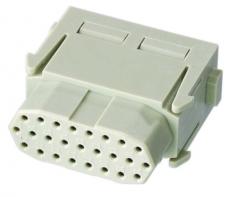 Han High Density modul female insert, 0,08-0,52mm², crimp