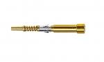 Han D fibre optic pin contact (30 mm), 1 mm POF