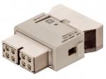 Megabit module female insert, 0,14-2,5mm², (shield GND) crimp