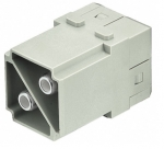 Han 100A module, male, axial screw, 38 mm²