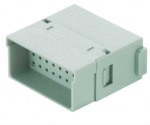 Han Full High Density modul male insert, 0,08 - 0,52 mm², crimp