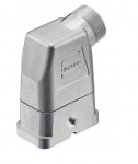 Han-Compact hood, M25, side entry, half cable gland, nickel plated