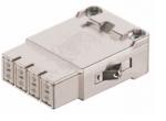 Megabit module male insert, 0,14-2,5mm², (shield-GND) crimp