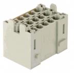 Han-Yellock multiplier block, male insert, crimp, 0,14-4mm²