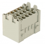 Han-Yellock multiplier block, female insert, crimp, 0,14 - 4 mm²