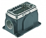 Han-Yellock 30 surface mounted housing, incl. bulkhead mounted housing, screw locking, side entry, M20