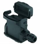 Han-Eco A 16A surface mounted housing, with thermo-plastic cover, integr. cable gland, side entry, 2xM20