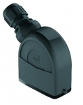 Han-Eco A 10A hood, integr. cable gland, side entry, 1xM25, outdoor