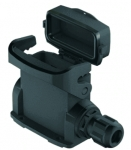Han-Eco A 10A surface mounted housing, integr. cable gland, with thermo-plastic cover, side entry, 1xM25, outdoor