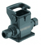 Han-Eco B 6B surface mounted housing, integr. cable gland, side entry, 2xM25