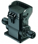 Han-Eco B 6B surface mounted housing, with thermo-plastic cover, integr. cable gland, side entry, 2xM20