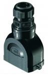 Han-Eco B 10B hood, integr. cable gland, top entry, 1xM20, single locking lever