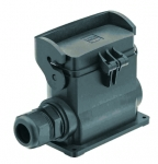 Han-Eco B 10B surface mounted housing, integr. cable gland, side entry, 1xM20