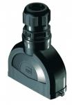 Han-Eco B 24B hood, integr. cable gland, top entry, single locking lever, 1xM40