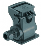 Han-Eco B 6B surface mounted housing, outdoor, with thermo-plastic cover, integr. cable gland, side entry, 1xM25