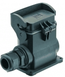Han-Eco B 10B surface mounted housing, integr. cable gland, side entry, 1xM20, single locking lever
