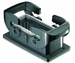 Han-Eco B 16B Bulkhead mounted housing, outdoor, double locking lever