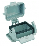 Han-Eco B 6B Bulkhead mounted housing, with thermo-plastic cover, single locking lever, IP67