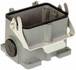 Han 48B surface mounted housing, side entry, 2xM40, single locking lever, high construction