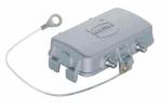 Han EMC/B 10B hood, side entry, 1xM20, double locking lever