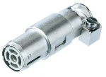 Han quintax coax socket contact, crimp
