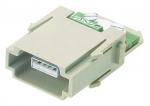 Han USB modul male insert, 0,14-0,5mm²