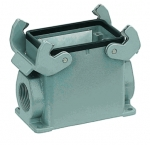 Han 32A surface mounted housing, side entry, 1xM25, high construction