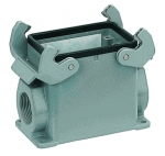 Han 32A surface mounted housing, side entry, 1xM32, high construction