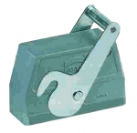 Han 10B hood, side entry, 1xM25, central locking lever (on the hood), high construction