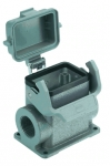 Han 6B surface mounted housing, with thermo-plastic cover, side entry, 2xM25