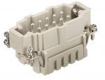 Han 10ES male insert, 0,14-2,5mm², cage clamp