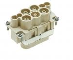 Han K 4/4 male insert, 6-16/0,14-2,5mm², finger safe