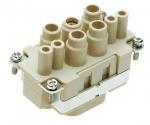 Han K 4/4 female insert, finger safe, 6-16/0,14-2,5mm²,