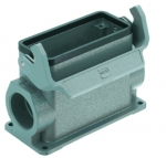 Han 16B surface mounted housing, side entry, 1xM32, single locking lever, high construction
