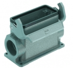 Han 16B surface mounted housing, side entry, 2xM32, single locking lever, high construction