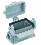 Han 16B surface mounted housing, with thermo-plastic cover, side entry, 1xM25, single locking lever