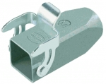 Han 3A hood, cable to cable housing M20, top entry, dust grey