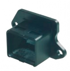 Han PushPull Anbaugehäuse Compact ohne Halteclip, mit Flachdichtung