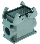 Han 10B surface mounted housing, side entry, 1xM25, double locking lever, high construction