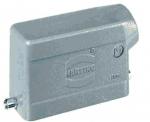 Han 10B hood, side entry, 1xM20, single locking lever