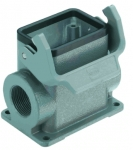Han 10B surface mounted housing, side entry, 2xM32, single locking lever, high construction