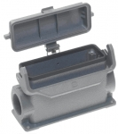 Han 24B housing, surface mounting with plastic cover