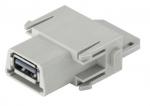 Han USB 3.0 modul female insert, 1A