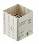 Han DD Quad module male, 0,14-2,5mm², crimp