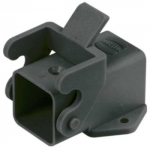 Han 3A surface mounted housing, angled, black