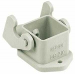 Han 3A housing, bulkhead mounting, straight, grey